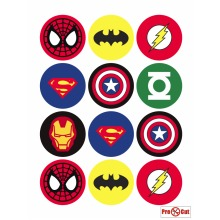 35pc Superhero Cake Topping Set | Pre-Cut Superhero Cupcake Toppers