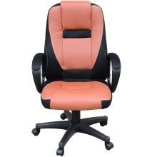 Homcom Swivel Computer Office Chair Faux Leather Back Desk