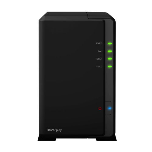Synology DS218play NAS Compact Ethernet LAN Black