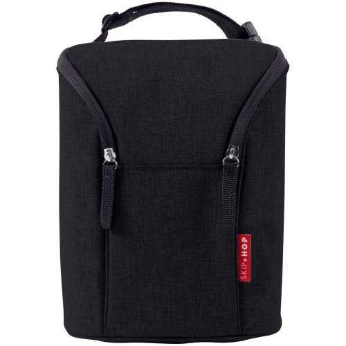 Skip Hop Double Bottle Bag - Black