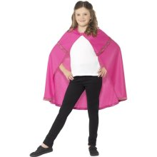 Smiffy's Children's Cape (medium - Large, Pink) -  cape fancy dress pink girls accessory superhero childrens book kids week outfit