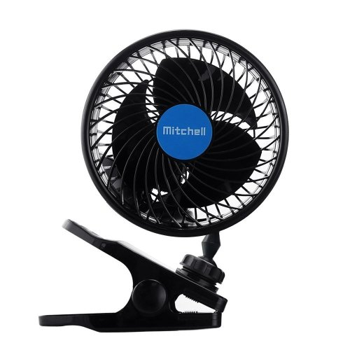 Jhua 12V 6 inch Car Fan Auto Car Clip Fans Vehicle Cooling Fan Car Powerful Quiet Stepless Speed Ventilation Electric Car Fans With Clip Cigarette...
