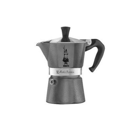 Bialetti Moka Emotion Espresso Maker for 1 Cup, Grey
