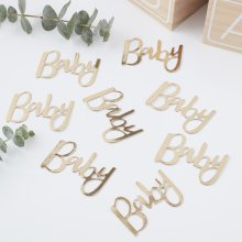 Gold Foiled Baby Confetti OH BABY Shower Table Decoration