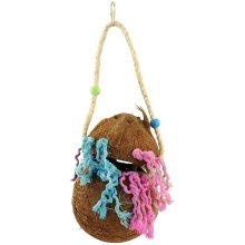 Big Beaks Coco Puzzle Bird Toy - Puzzler Hide Treat Hanging Parrot Cage Fp020 -  big beaks coco puzzle bird toy puzzler hide treat hanging parrot