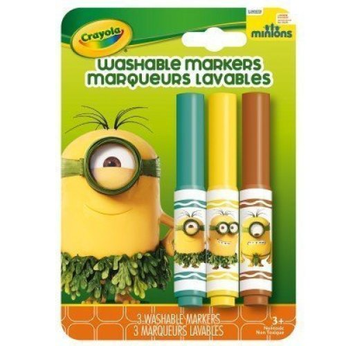 Crayola Prehistoric Minions 3 Count Washable Pip-Squeaks Markers