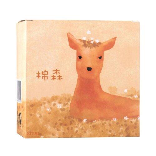 Soft Cosmetic Cotton Pads in Giraffe Pattern Box 204pcs