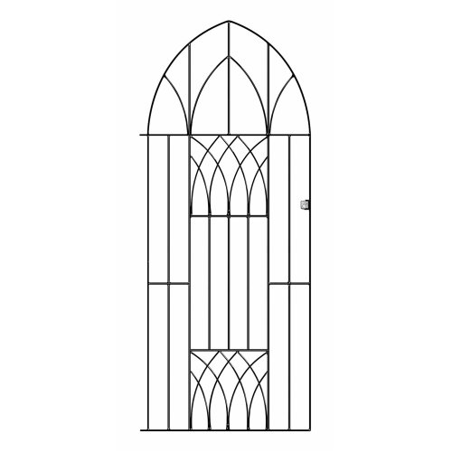Abbey Tall Metal Bow-Top Gate