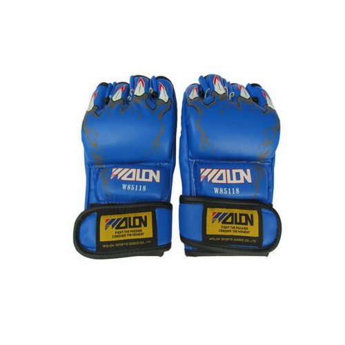 Men's Boxing Gloves Blue Claw MMA Grappling Gloves