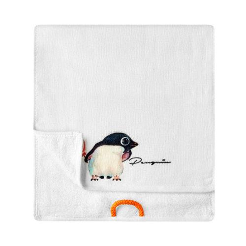 Lovely Design Soft Absorbent Cotton Towels for Kids 2 Pcs - Penguin